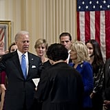 Jill Biden was by her husband's side during his private swearing-in.