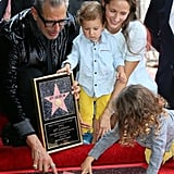 Jeff Goldblum and Family at Hollywood Walk of Fame Ceremony