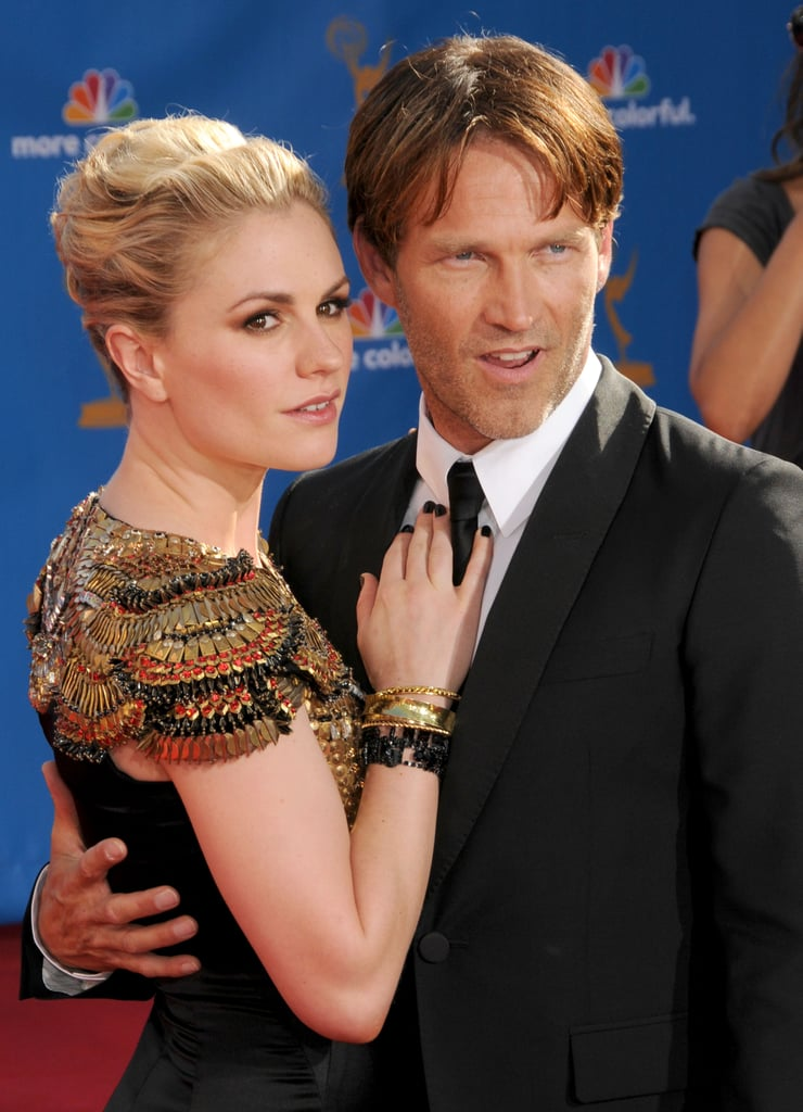 Anna Paquin and Stephen Moyer at the 2010 Emmy Awards