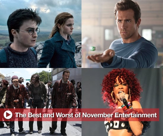 Best and Worst of November Entertainment, Includes Harry Potter, Green Lantern, and The Walking Dead