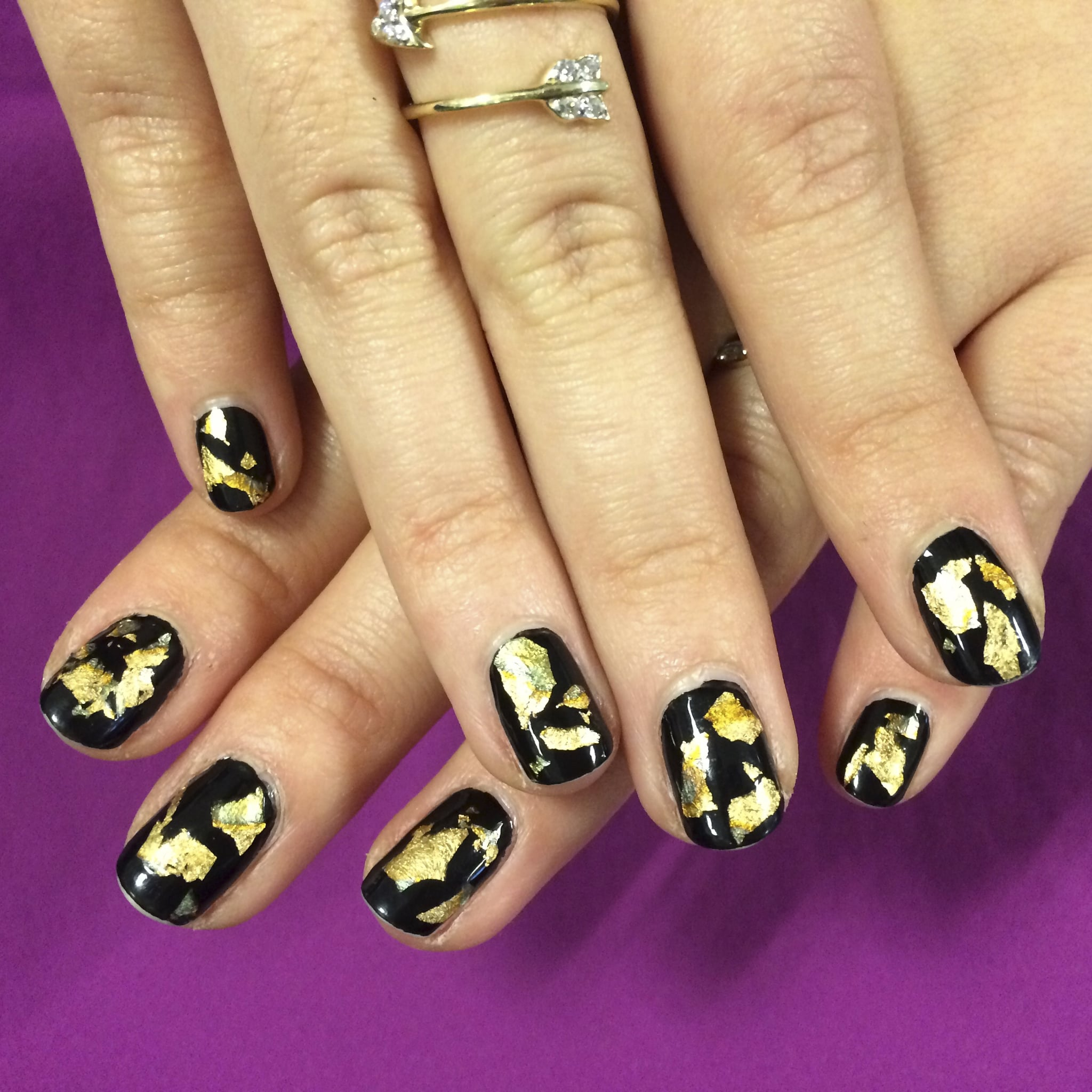 Foil nail art how to popsugar beauty prinsesfo Image collections