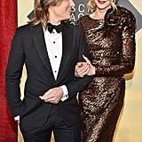 Keith was clearly smitten by his wife at the 24th annual Screen Actors Guild Awards in January 2018.