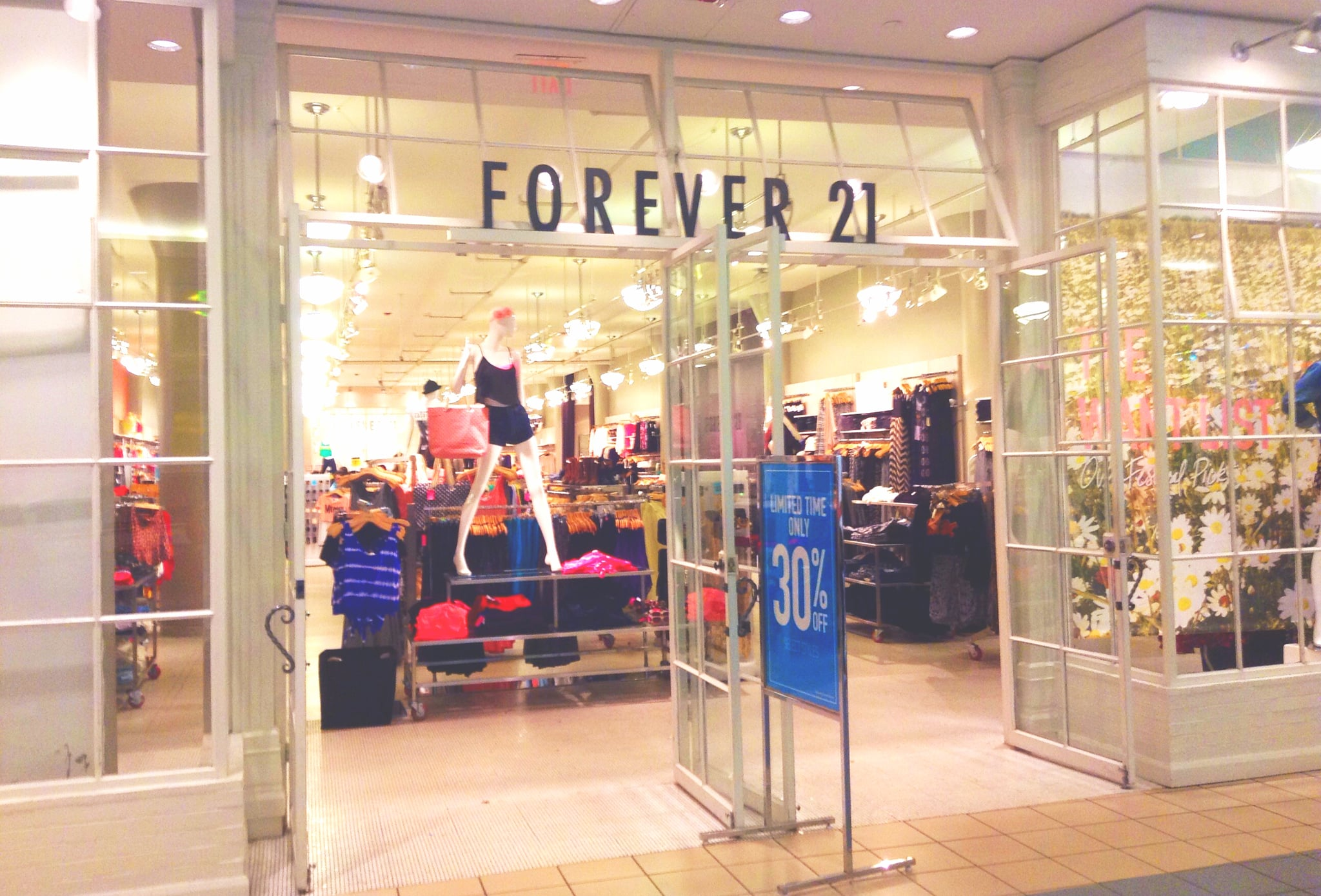 Forever 21 in store clothes