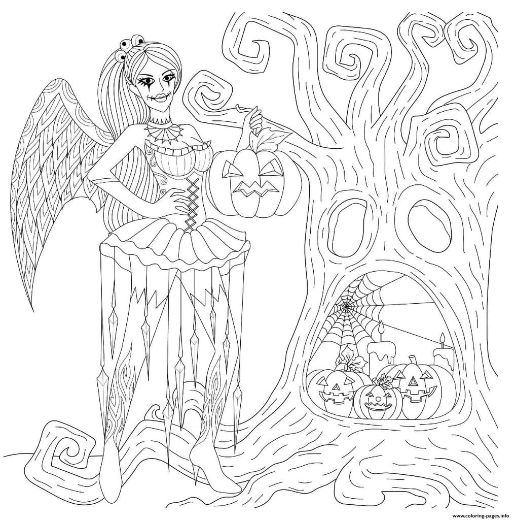 Halloween Goth Fairy Printable