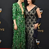 Sarah Paulson and Marcia Clark at the Emmy Awards 2016