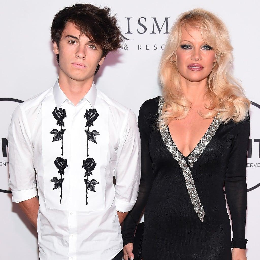 Pamela anderson tommy lee wedding bands - Pamela Anderson And Dylan Lee At Unitas Gala 2016