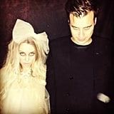 Lauren Conrad and William Tell as a Creepy Bride and Groom