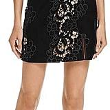 Saylor Velvet Embroidered Lace Dress