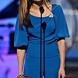 Cutie patootie in electric blue at the 2004 Grammys.