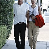 Gwen Stefani and husband Gavin Rossdale were arm in arm in LA.