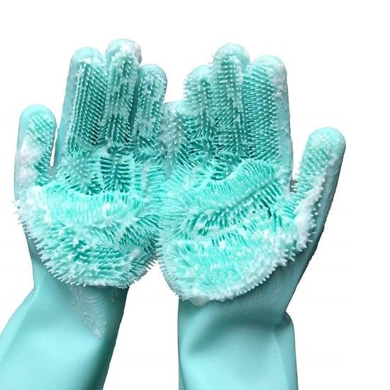 Silicone Dishwashing Gloves on Amazon