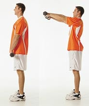Get Lifted: Dumbbell Front Raises
