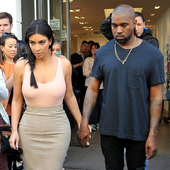 Kim Kardashian and Kanye West in Paris Before Wedding