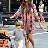 Camila Alves followed Levi on a stroll around NYC.