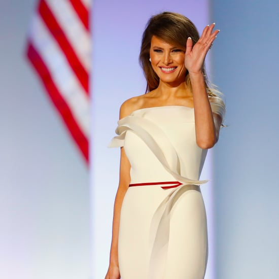 Melania Trump's Herve Pierre Inauguration Dress 2017