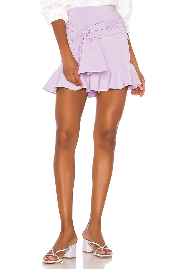 Song of Style Farah Mini Skirt in Lilac Purple from Revolve.com