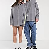 Collusion Drop Shoulder Oversized Check Shirt