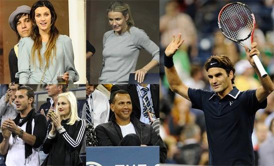 Cameron Diaz, Gwen Stefani, Gavin Rossdale, Ashlee Simpson and More Watch Roger Federer at US Open