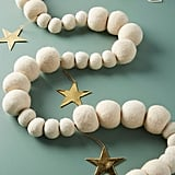 White Felted Garland
