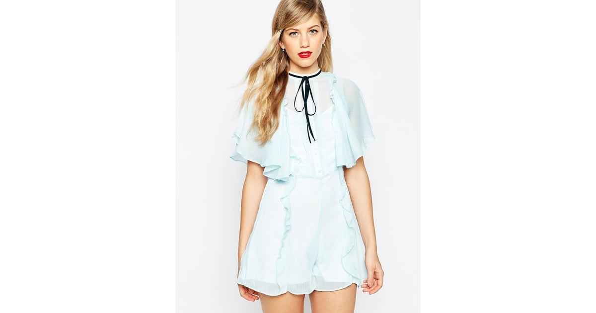 Asos Occasion Ruffle Wrap Playsuit (£45)