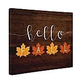 Hello Fall Canvas Artwork
