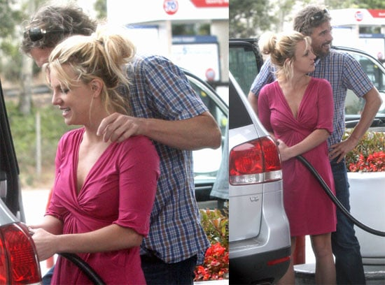 Britney Spears and Jason Trawick at an LA Gas Station