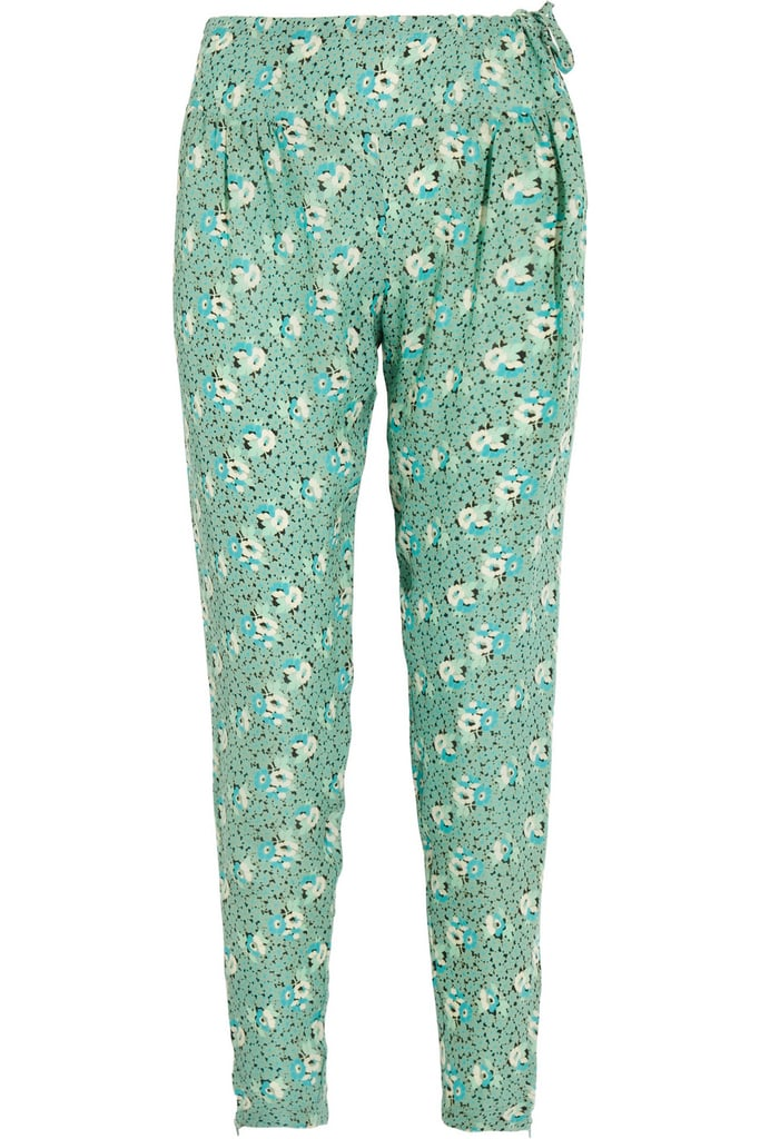 "I love turning a typically ""daytime"" piece into something unexpected and wearable for going out at night. These Tucker Floral-Print Georgette Pants ($299) would look just as pretty with a white blouse and blazer for the office as it would with a fitted tank and leather jacket for the bar.  — Britt Stephens"