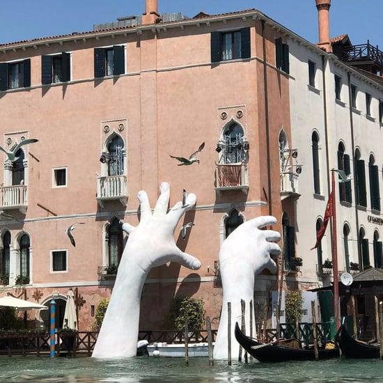 Hands Sculpture About Climate Change at the Venice Biennale