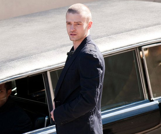 Slide Picture of Justin Timberlake on the Set of Now in LA 2010-11-09 03:30:00