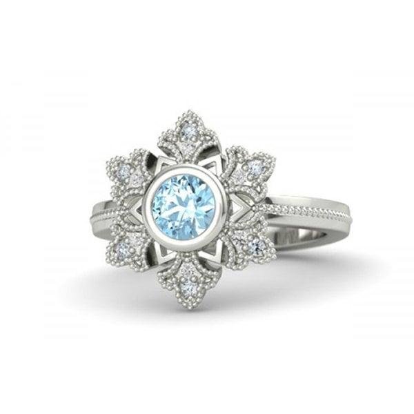 Zales Aquamarine Promise Ring