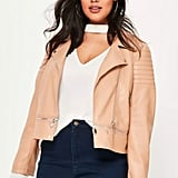 Missguided Nude Faux Jacket