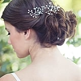 Inspired by baby's breath, this wire hairpin ($65) is made with Japanese pearls. The soft and delicate look works with all bridal hairstyles.