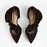 Ruffle Pointed Toe Flats