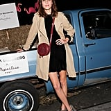 Alexa Chung got into the spirit at Hogs & Heifers for Derek Blasberg's Paperless Post bash.