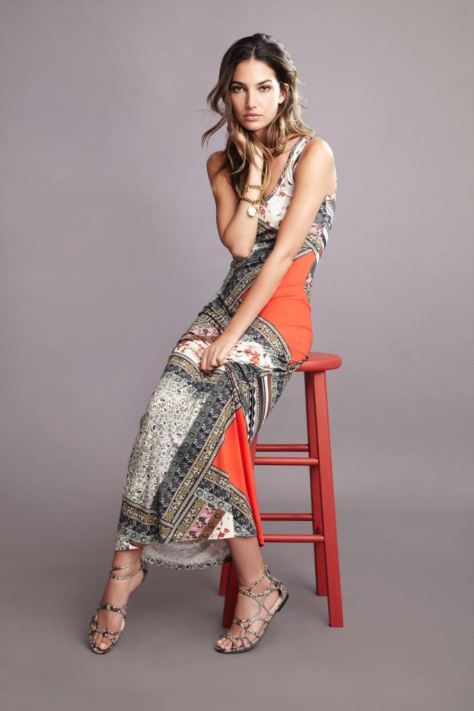 Lily Aldridge For Velvet Martha Scarf Print Maxi Dress ($150) Source: Courtesy of Velvet