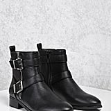 Forever 21 Buckled Faux Leather Boots