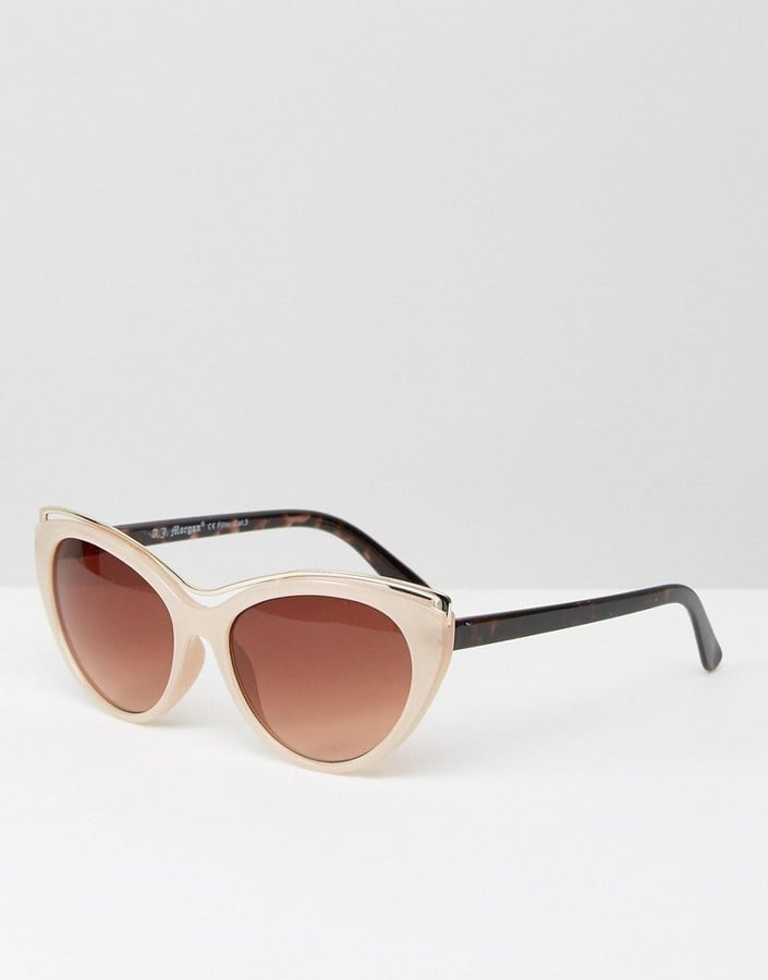 A. J. Morgan Cat Eye Sunglasses in Taupe with Metal Frame