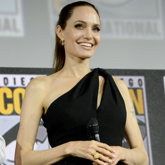 Angelina Jolie Wears Black Dress to San Diego Comic-Con 2019