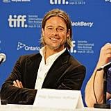 Brad Pitt kept everyone laughing in Toronto.