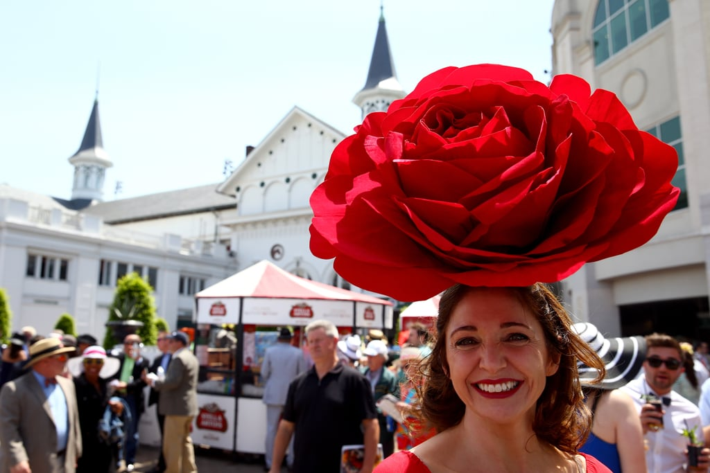 A woman rocked a rosy hat in 2014.
