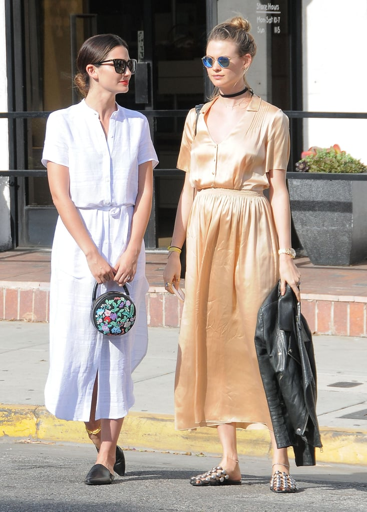 Behati Prinsloo And Lily Aldridge Street Style Popsugar Fashion