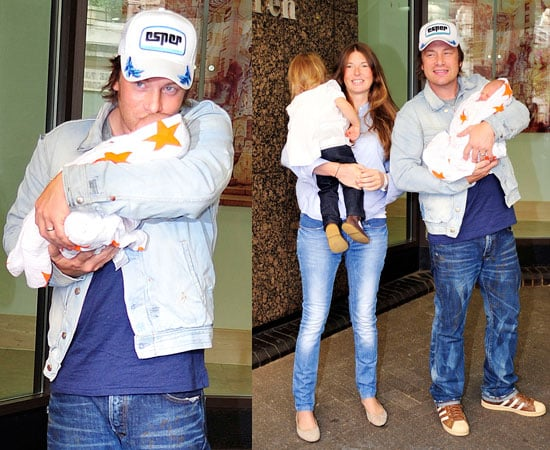 Pictures of Jamie Oliver With Baby Buddy