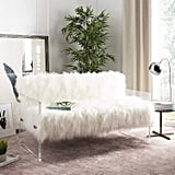 Safavieh Home Collection Sybel Sheepskin Lucite Settee