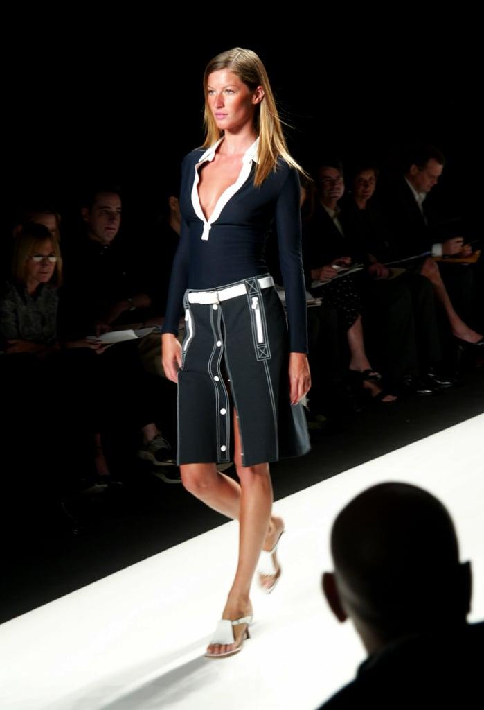 Gisele Bündchen on the Michael Kors Runway at New York Fashion Week Spring 2003