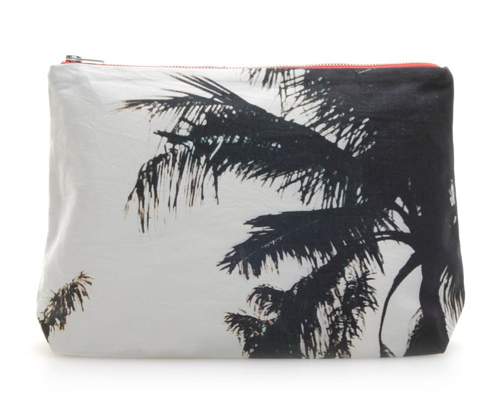 For the girl who stays stylishly busy, this Dezso canvas pouch ($65) will provide an easy-breezy accent. Almost literally. We love that you can use this palm-tree printed pouch as a laid-back clutch or use it as a makeup bag.