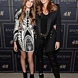 Cindy Crawford and Kaia Gerber Wearing Balmain x H&M in 2015