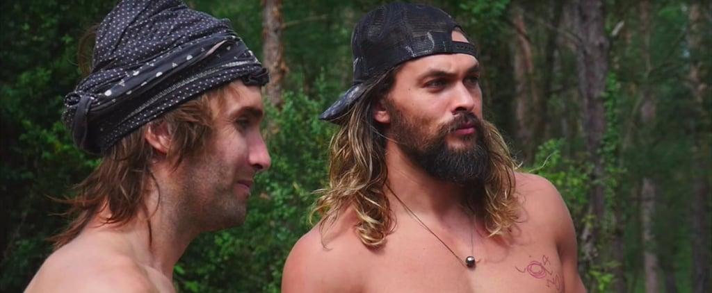 "This Video of Shirtless Jason Momoa Rock Climbing Deserves a ""Holy Sh*t"""
