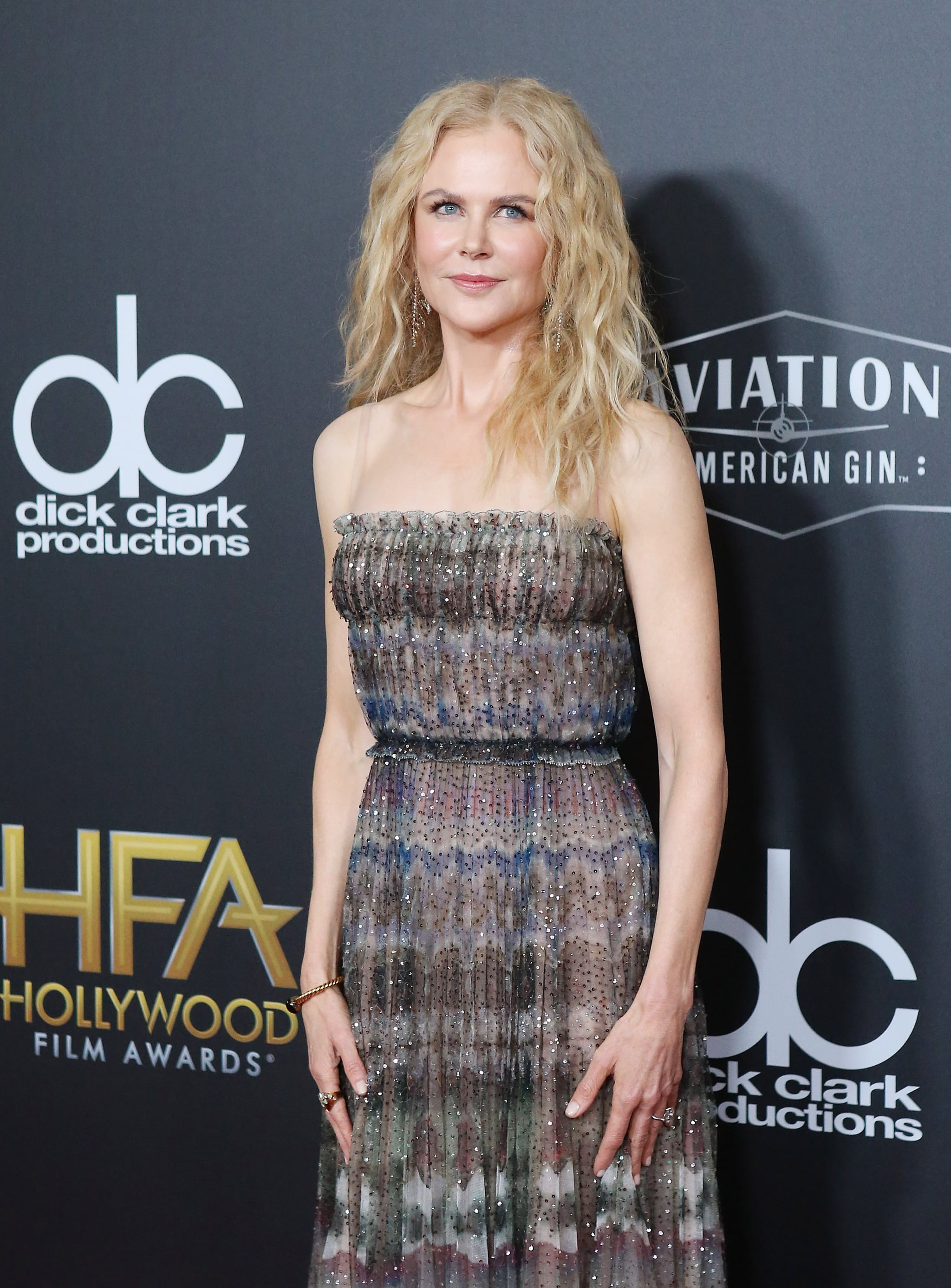 BEVERLY HILLS, CA - NOVEMBER 04:  Nicole Kidman attends the 22nd Annual Hollywood Film Awards held at The Beverly Hilton Hotel on November 4, 2018 in Beverly Hills, California.  (Photo by Michael Tran/FilmMagic,)