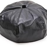 Shein Black Faux Leather Beret