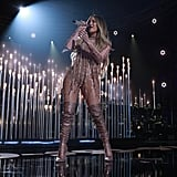 "Jennifer Lopez rocked the stage performing ""Ni Tu Ni Yo""."